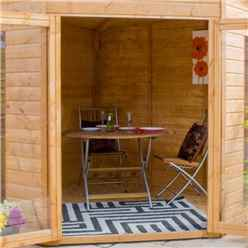 INSTALLED 7ft x 7ft (2.13m x 2.13m) Premier Solis Corner Summerhouse (12mm T&G Floor & Roof) - INCLUDES INSTALLATION