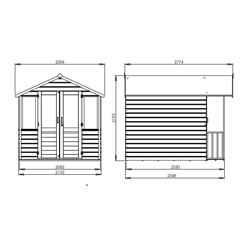 INSTALLED 7ft x 5ft (2.12m x 1.48m) Devon Summerhouse (1/2 Styrene Glazed Doors) (10mm Solid OSB Floor & Roof) - INCLUDES INSTALLATION
