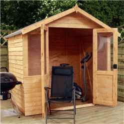 INSTALLED 7ft x 5ft (2.32m x 1.48m) Traditional Overlap Summerhouse (10mm Solid OSB Floor) - INCLUDES INSTALLATION