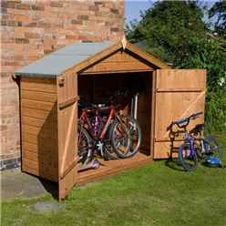 INSTALLED Bike Store 7ft x 3ft (2.01m x 0.82m) Premier Tongue & Groove With Double Doors (10mm Solid OSB Floor) - INCLUDES INSTALLATION