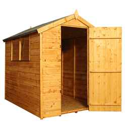 INSTALLED 6ft x 4ft (1.78m x 1.31m) Tongue & Groove Apex Shed With Single Door + 2 Windows (10mm Solid OSB Floor) - INCLUDES INSTALLATION