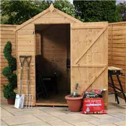 INSTALLED 7ft x 5ft (1.78m x 1.31m) Tongue & Groove Apex Shed with Single Door + 2 Windows (10mm Solid OSB Floor) - INCLUDES INSTALLATION
