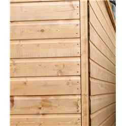 *DISCO 2/1/19* INSTALLED 6ft x 8ft (1.91m x 2.39m) Tongue And Groove Reverse Apex Shed With Single Door + 1 Window (10mm Solid OSB Floor) - INCLUDES INSTALLATION