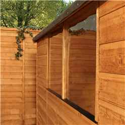 INSTALLED 8ft x 6ft (2.41m x 1.91m) Tongue & Groove Apex Shed With Double Doors + 2 Windows (solid 10mm OSB Floor) - INCLUDES INSTALLATION
