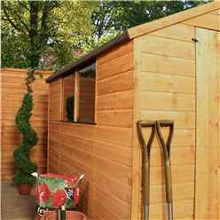 INSTALLED 8ft x 6ft (2.41m x 1.91m) Tongue & Groove Apex Shed With Large Door + 2 Windows (solid 10mm OSB Floor) - INCLUDES INSTALLATION