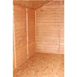 INSTALLED 10ft x 8ft (3.12m x 2.44m) Tongue & Groove Apex Shed With Double Doors + 4 Windows (10mm Solid OSB Floor) - INCLUDES INSTALLATION
