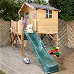 INSTALLED Tulip Tower Playhouse & Slide 5ft x 7ft - INCLUDES INSTALLATION