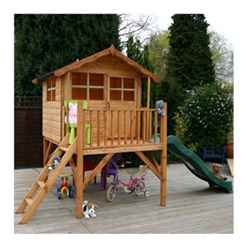 INSTALLED Poppy Tower Playhouse & Slide 5ft x 7ft - INCLUDES INSTALLATION