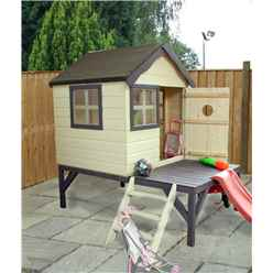 INSTALLED Snug Playhouse 4ft x 4ft With Tower and Slide - INCLUDES INSTALLATION
