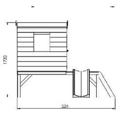 INSTALLED 8ft x 7ft Tongue & Groove Playhouse Tower + 3 Windows And Slide - INCLUDES INSTALLATION