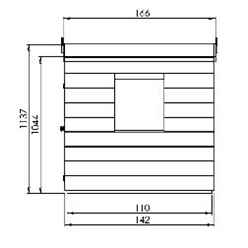 INSTALLED 4ft x 4ft Tongue & Groove Playhouse + 2 Windows - INCLUDES INSTALLATION