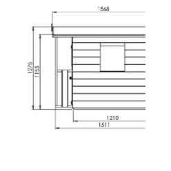 5ft x 5ft Tongue & Groove Playhouse With Overhang