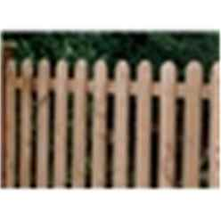 4FT Pressure Treated Palisade Round Top Fencing Panel - 1 Panel Only + Free Delivery*