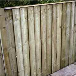 4FT Pressure Treated Vertical Feather Edge (Flat Top) - 1 Panel Only (Min Order 3 Panels) + Free Delivery*