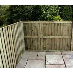 3FT Pressure Treated Vertical Feather Edge (Flat Top) - 1 Panel Only (Min Order 3 Panels) + Free Delivery*