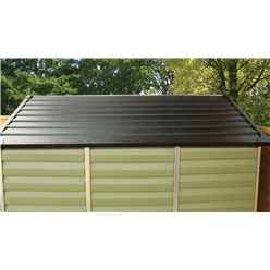 INSTALLED 8ft x 6ft Plastic Apex Shed (2.39m x 1.88m) *INCLUDES INSTALLATION*