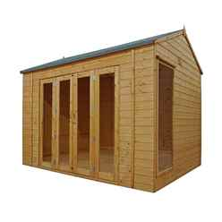 INSTALLED 10ft x 8ft (3m x 2.5m) Vermont Reverse Tongue and Groove Summerhouse (12mm Tongue and Groove Floor) INCLUDES INSTALLATION