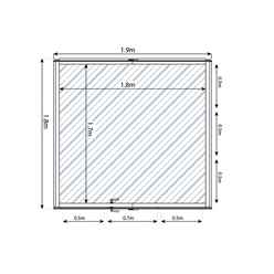 6ft x 6ft (1.8 x 1.9m) Premier Styrene Glazed Tongue and Groove Greenhouse (No Floor)