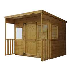 Sheriff Tongue and Groove Pent PlayHouse 6ft x 6ft (10mm OSB Floor and Roof)