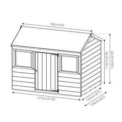 INSTALLED Reverse Tongue and Groove Playhouse 4' 5