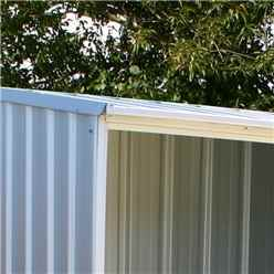 INSTALLED 5ft x 3ft (1.5m x 0.8m) Space Saver Zinc Metal Shed (1.52m x 0.78m) INCLUDES INSTALLATION