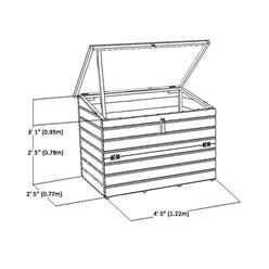 INSTALLED 4ft x 3ft (1.22m x 0.77m) Tongue & Groove Store Chest INCLUDES INSTALLATION