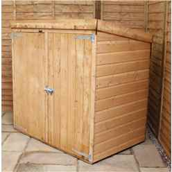 INSTALLED 5 x 3 (1.45m x 0.94m) Wooden Tongue and Groove Pent Mower Shed with Double Doors INCLUDES INSTALLATION