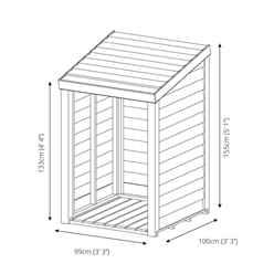 *DISCO 2/1/19* 3 x 3 (1m x 1m) Pressure Treated Overlap Storage Unit (3'3 x 3'3)