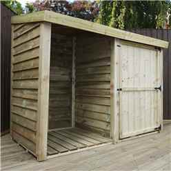 INSTALLED 3 x 6 (1m x 1.9m) Pressure Treated Overlap Double Storage Unit With Single Door (3'3 x 6'2) INCLUDES INSTALLATION