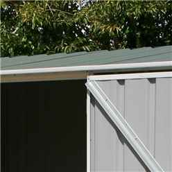 **PRE-ORDER:DUE BACK IN STOCK: 22ND DECEMBER** INSTALLED 8ft x 5ft (2.3m x 1.5m) Space Saver Pale Eucalyptus Metal Shed (2.26m x 1.52m) INCLUDES INSTALLATION