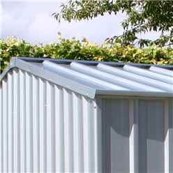 INSTALLED 8ft x 10ft (2.3m x 3m) Premier Zinc Metal Shed (2.26m x 3m) INCLUDES INSTALLATION