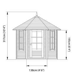 9 x 11 (2.8m x 3.2m) Pressure Treated Tongue and Groove Pavilion (9'3