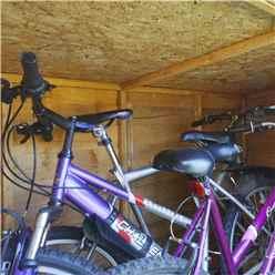 3ft x 6ft (0.98m x 1.95m) Overlap Pent Bike Store (3'3