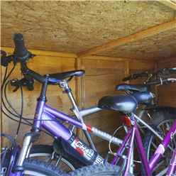 4ft x 6ft (1.24m x 1.95m) Overlap Pent Bike Store (6'5