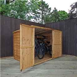 INSTALLED 4ft x 6ft (1.24m x 1.95m) Overlap Pent Bike Store (4'1