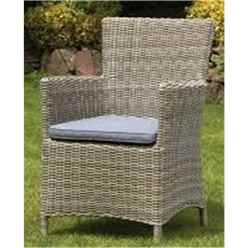 ** OOS ** 2 Seater Wentworth Bistro Set - 70cm Round Table with 2 Carver chairs Incl cushions - Free Next Working Day Delivery (Mon-Fri)