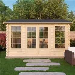 5m x 4m Vermont Log Cabin (Single Glazing) + Free Floor & Felt & Safety Glass (28mm)