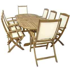 6 Seater Edinburgh Dining Set with Edinburgh Extension Table 'V' Leg with 6 Henley Recliner Chairs - Free Next Working Day Delivery (Mon-Fri)