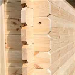 4.5m x 3.5m Vermont Log Cabin (Single Glazing) + Free Floor & Felt & Safety Glass (34mm)