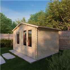 3.43m x 2.70m Vicky Log Cabin (19mm T&G) + + Free Floor & Felt & Safety Glass