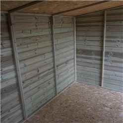 14 x 8 (4.27m x 2.41m) Oxford Pressure Treated Shiplap Pent Shed