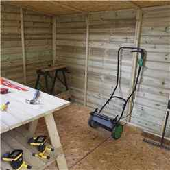 12 x 7 Oxford Pressure Treated Shiplap Pent Shed