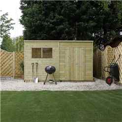 12 x 6 (3.65m x 1.70m) Oxford Pressure Treated Shiplap Pent Shed
