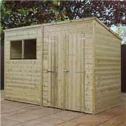 10 x 5 Oxford Pressure Treated Shiplap Pent Shed