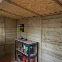INSTALLED 10 x 6 Oxford Pressure Treated Shiplap Pent Shed - INCLUDES INSTALLATION