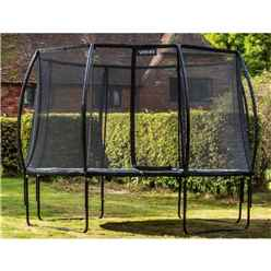 10ft Round Black VORTEX Trampoline with Free Cover and Ladder