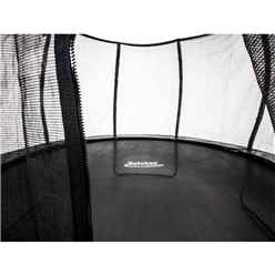INSTALLED 12ft Round Black VORTEX Trampoline with Free Cover and Ladder