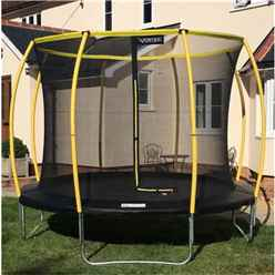 INSTALLED 12ft ORBIT Trampoline with Enclosure Package + FREE Ladder
