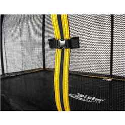 INSTALLED 7ft x 10ft Rectangular Elite Trampoline with Enclosure Package + FREE Ladder