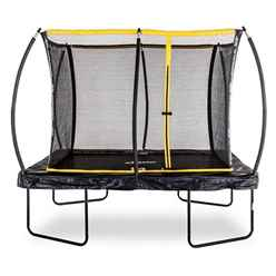 INSTALLED 8ft x 12ft Rectangular Elite Trampoline with Enclosure Package + FREE Ladder